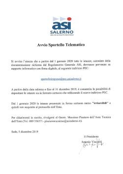 Avviso Sportello Telematico1